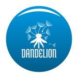 Field dandelion logo icon vector blue. Field dandelion logo icon. Simple illustration of field dandelion vector icon for any design blue Royalty Free Stock Image