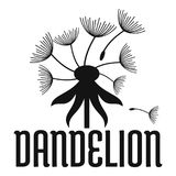 Field dandelion logo icon, simple style. Field dandelion logo icon. Simple illustration of field dandelion vector icon for web Royalty Free Stock Photography