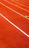 field den röda sporten Arkivfoto