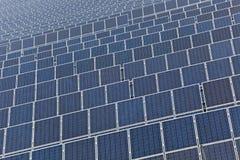 field den sol- panelen Royaltyfri Fotografi