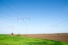 Field of electric Royalty Free Stock Images