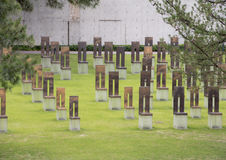 Field of Empty Chairs, Oklahoma City Memorial Royalty Free Stock Images
