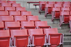 A field of empty stadium seats Royalty Free Stock Images
