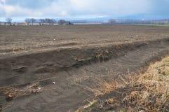 Field erosion Stock Image