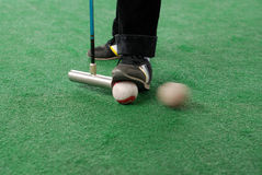 Croquet game. A field exercise croquet game Royalty Free Stock Image