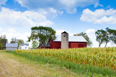 Field with Farm Buildings Stock Images