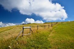 Field with fence Royalty Free Stock Images