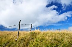 Field with fence Royalty Free Stock Photography