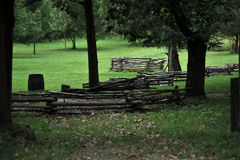 Field of fences Stock Photo