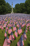 Field of flags at Boston Common Stock Images