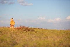 field flickan Arkivfoto