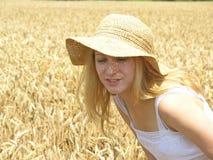 field flickan Royaltyfri Fotografi