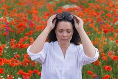 field flickavallmor Arkivbild