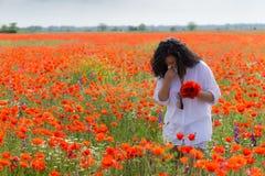 field flickavallmor Arkivfoto
