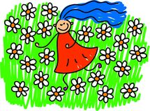 Field of flowers stock illustration