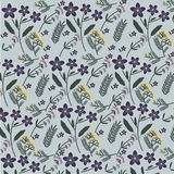 Field flowers pattern. Absinthe tansy red clover kiss me quick pattern Stock Photos