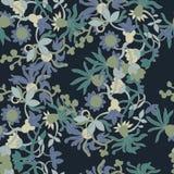 Field flowers on pattern. Field flowers on deep seamless Royalty Free Stock Image
