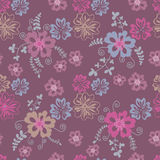 Field  flowers seamless pattern. In rose and lilac tones. Vector illustration Royalty Free Stock Photography