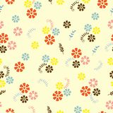 Field flowers and twigs vector illustration