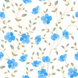 Field flowers wallpaper. Field flowers wallpaper over white background. Vector illustration Stock Images