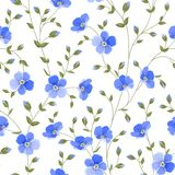 Field flowers wallpaper. Field flowers wallpaper over white background. Vector illustration Royalty Free Stock Photography