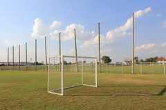 Field for football practice. For the general public stock photography
