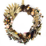 Field, Forest and Ocean Harvest Wreath Stock Photos