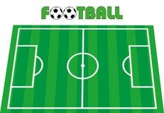 field fotbollfotboll Arkivbild