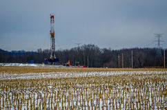 Field of Fracking Stock Photo