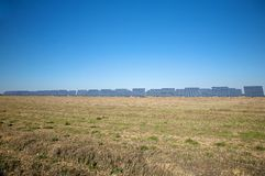 Field full of solar panels Royalty Free Stock Photography