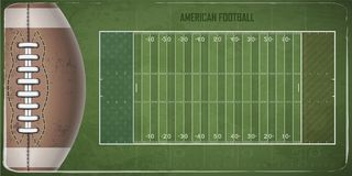 Field for game in the American football. Vector illustration Stock Image