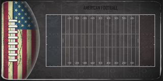 Field for game in the American football. Vector illustration Royalty Free Stock Photography