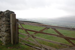 Field gate Stock Photo