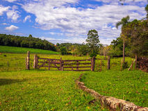 Field Gate. Gate with trees - Lindolfo Collor - Brazil Stock Images