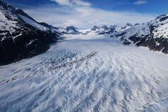 field glaciären Arkivfoton
