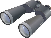 The field-glass. Binoculars focus optical Royalty Free Stock Image