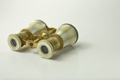 The field-glass. The picture of an ancient opera glasses Stock Image