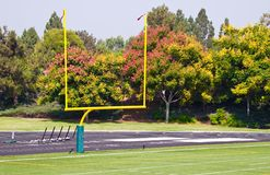 Field Goal. The field goal of a football field Royalty Free Stock Photos