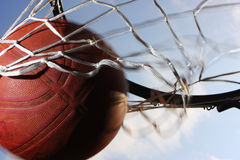 Field goal. Picture of a basketball field goal with the sky in background Stock Photography