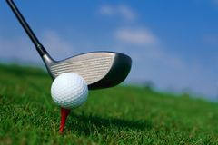 Field of golf Royalty Free Stock Photography