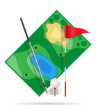 Field for golf vector illustration Royalty Free Stock Images