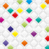 Field of gray and color squares. On white background Royalty Free Stock Images