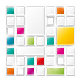 Field of gray and color squares. On white background Royalty Free Stock Photos