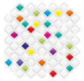 Field of gray and color squares. On white background Royalty Free Stock Image