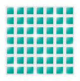 Field of green squares. On white background Royalty Free Stock Photos
