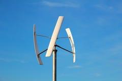 field green turbines wind Arkivbild