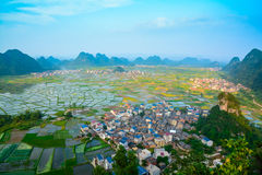 Field in Guilin of China. Guilin is a subtropical climate, mild climate, abundant rainfall, the average annual rainfall is 900 mm, the annual frost free period Royalty Free Stock Photos
