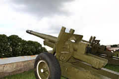 Field gun. In museum outdoor, Peter and Paul fortress, St. Petersburg, Russia Stock Images