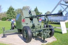 Field Gun by Pegasus bridge stock images