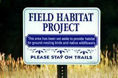 Field Habitat Project Stock Photos